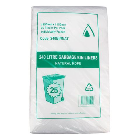 NATURAL (CLEAR) GARBAGE BAGS