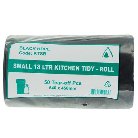 TIDY LINER SML BLK 18LTR ROLL