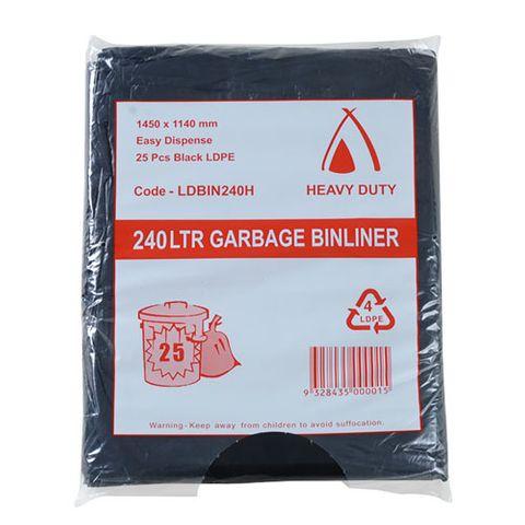 240L 30um BLACK BAGS HD (100)