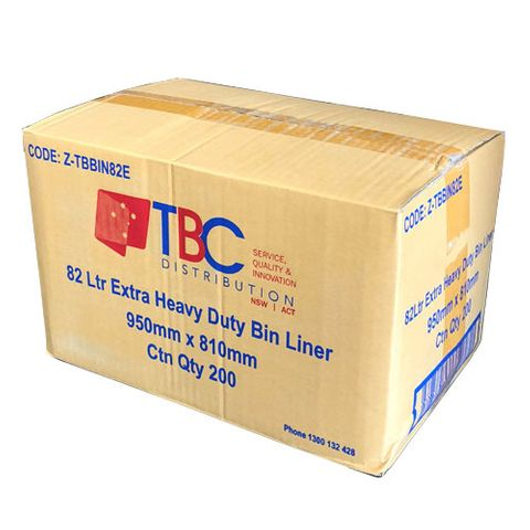 54LTR BLACK BIN LINER 850 X 640 (250/CTN