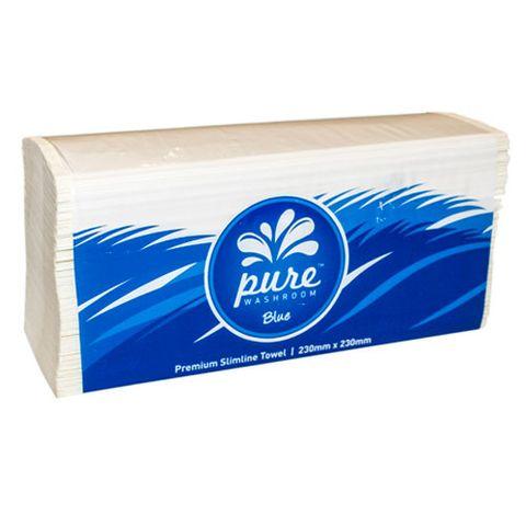PURE WASHROOM BLUE PREMIUM SLIMFOLD HAND TOWEL