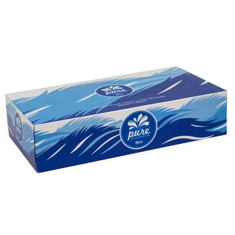 PURE WASHROOM BLUE PREMIUM FACIAL TISSUE
