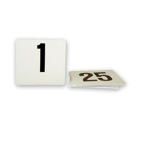TABLE NUMBER SET 1-25