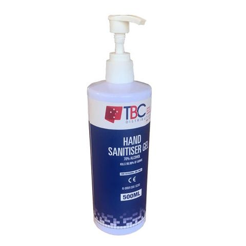 TBC HAND SANITISER GEL
