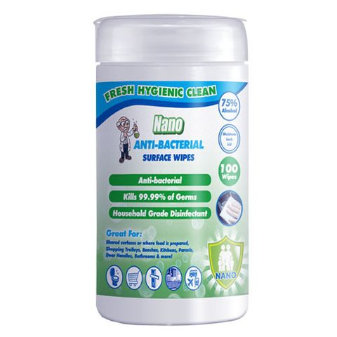 NANO ANTI-BACTERIAL SURFACE WIPES