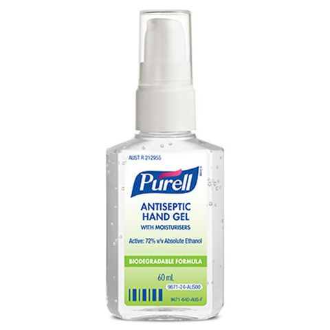 PURELL ANTISEPTIC HAND GEL PERSONAL PUMP BOTTLE