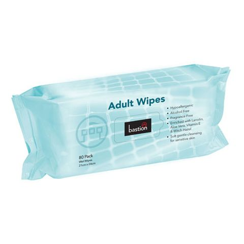 BASTION ADULT WET WIPES