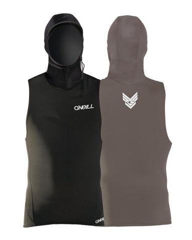 O'neill Thermo Neo-Hooded Sleeveless Rash Vest - Black