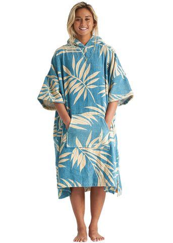 Billabong Wmns Hoodie Towel Blue Palms