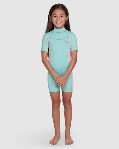 Billabong202 Toddler Synergy FL Back Zip Short Sleeve Springsuit Ice