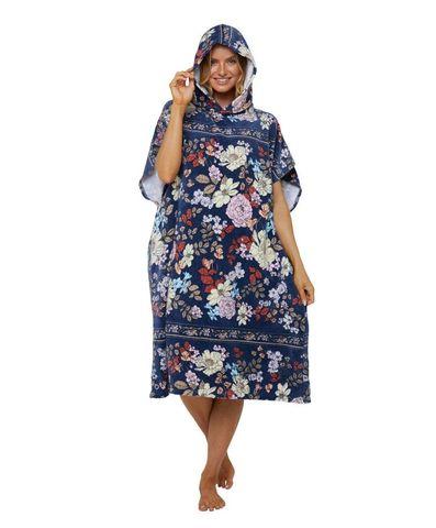O'neill Sunray Hooded Towel Navy Poppy