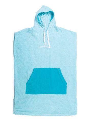 O&e Youth Day Dream Hooded Poncho- Aqua