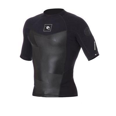 Rip Curl Dawn Patrol 1.5mm Short Sleeve Jacket - Black