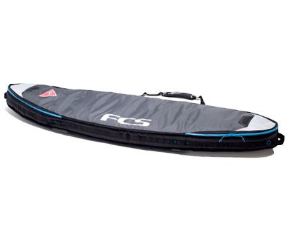 FCS Double Travel Shortboard - Grey