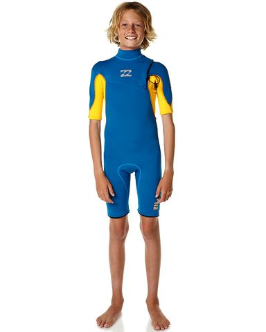 Billabong Boys Pro Zipless Spring Suit - Blue