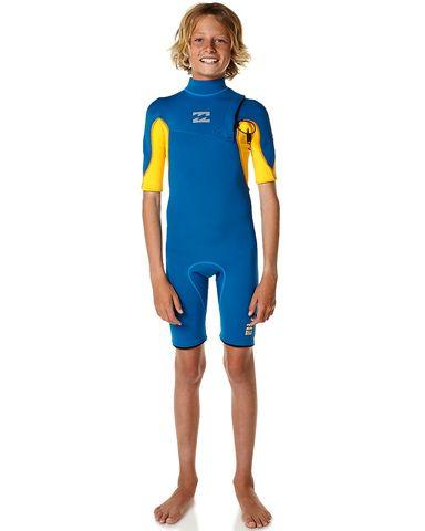 Billabong Boys Pro Zipless Spring Suit - Blue