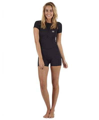 Billabong Woman's Synergy Spring Suit Front Zip Black