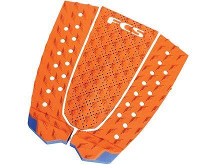 Fcs T-3 Three Piece Tail Pad - B Orange