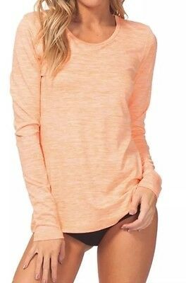 Rip Curl Women's Search Long Sleeve Uv Tee Orange