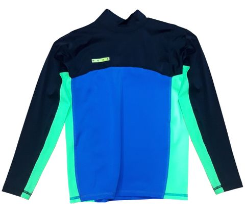 Peak Kids Long Sleeve UV Tee - Blue Green