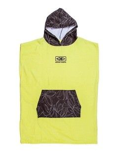 O&e Youth Hooded Poncho Lime