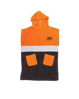 O&e Youth Hooded Poncho Orange