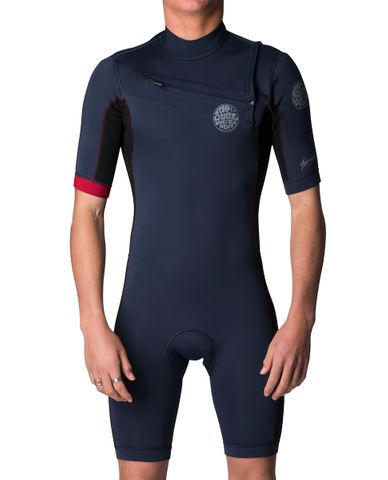 Rip Curl Aggrolite 2mm Chest Zip - Red