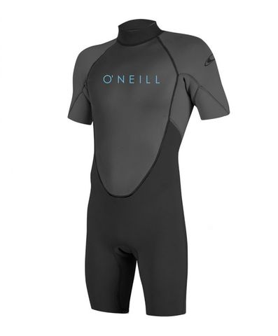 O'Neill Youth Reactor II 2mm Back Zip S/S Spring Wetsuit - Graphite