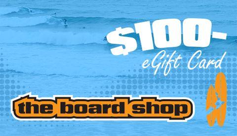 The Boardshop Egift Card $100