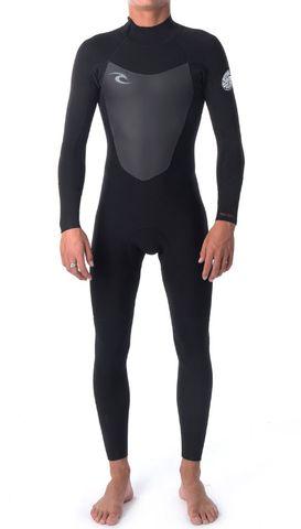 Rip Curl Dawn Patrol 3/2mm Back Zip Wetsuit Steamer - Black