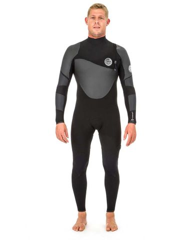 Rip Curl Flashbomb Heat Seeker 4/3 Zip Free Wetsuit Steamer