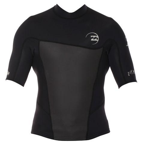 Billabong Foil 2mm Short Sleeve Jacket Black
