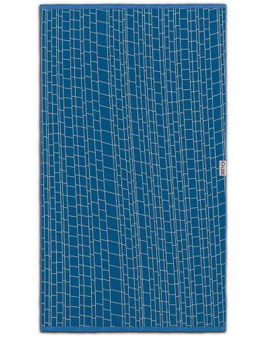 Leus Jacquard Woven Towel Stacked