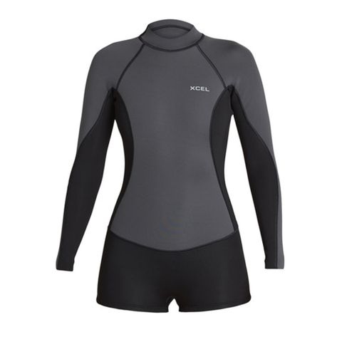 Xcel Axis 2mm Long Sleeve Spring suit - Graphite