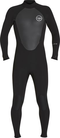 Xcel Axis 4/3 Back Zip Fullsuit - Black