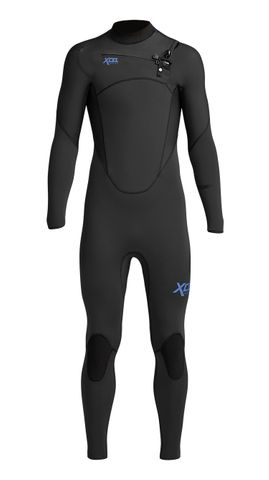 Xcel Youth Comp 3/2 Chest Zip Steamer - Black