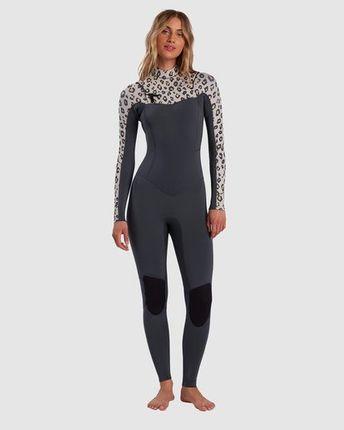 Billabong Salty Days 3/2 Chest Zip Leopard Print