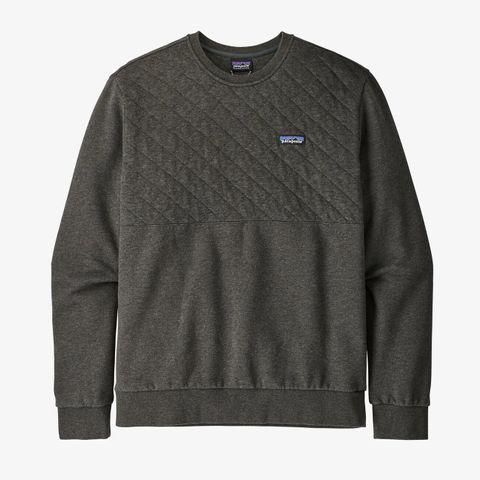 Men's Organic Cotton Quilt Crewneck Sweatshirt - Forge Grey