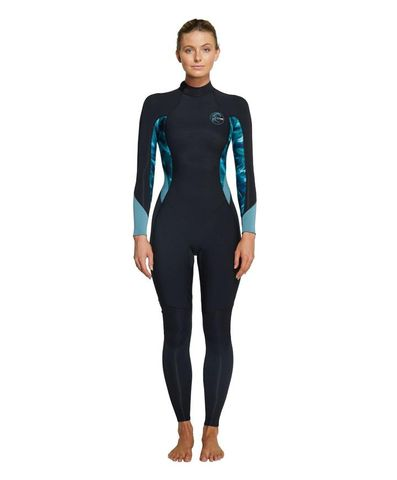 O'Neill Womens Bahia Back Zip 3/2mm Steamer Wetsuit - Black Aquaswirl