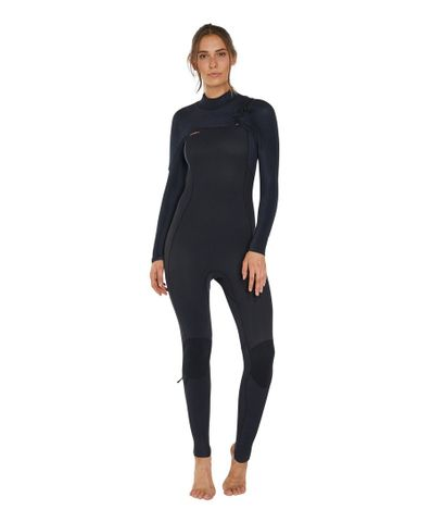 Oneill Womens Hyperfreak 4/3 Chest Zip Black