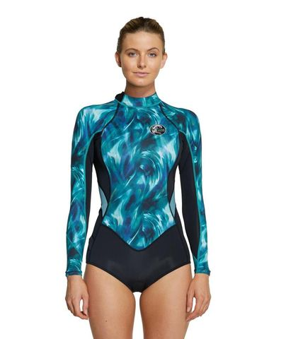 O'Neill Bahia 2mm Long Sleeve Mid Spring Suit Aqua