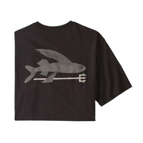 Patagonia Flying Fish Organic T-Shirt- Black
