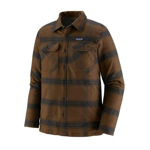 Patagonia Insulated Fjord Flannel Jacket - Burlwood: Owl Brown