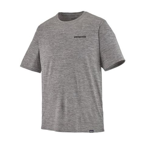 Patagonia Men's Capilene Cool Daily Graphic Shirt - P-6 Logo: Feather Grey