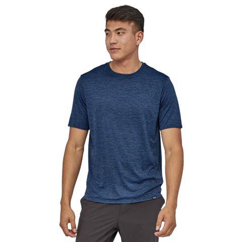 Patagonia Men's Capilene Cool Daily Shirt - Viking Blue - Navy Blue X-Dye