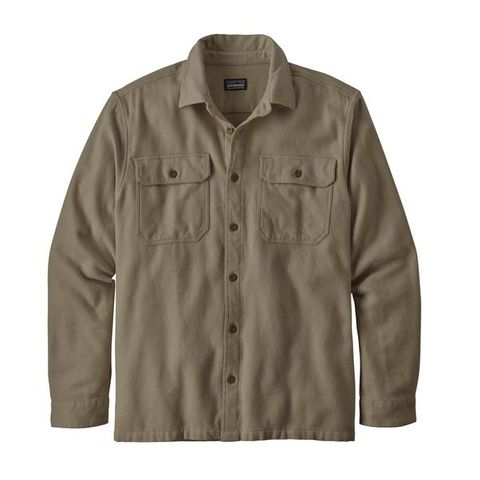 Patagonia Men's Fjord Flannel Shirt- Natural Dye Hex Grey