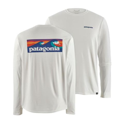 Patagonia Men's Long Sleeve Capilene Cool Daily Graphic Shirt - White