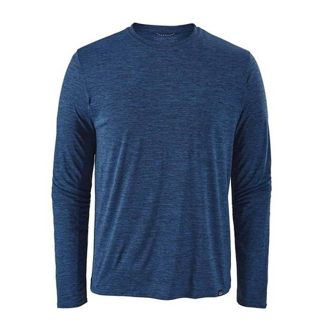 Patagonia Men's Long Sleeve Capilene Cool Daily Shirt - Viking Blue - Navy Blue