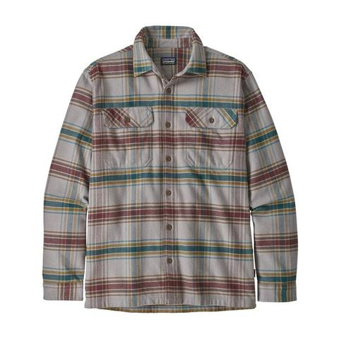 Patagonia Men's Long-Sleeved Fjord Flannel Shirt- Defender Feather Grey