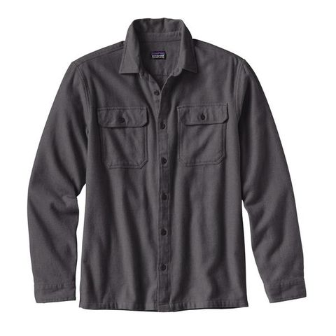 Patagonia Men's Long-Sleeved Fjord Flannel Shirt - Forge Grey